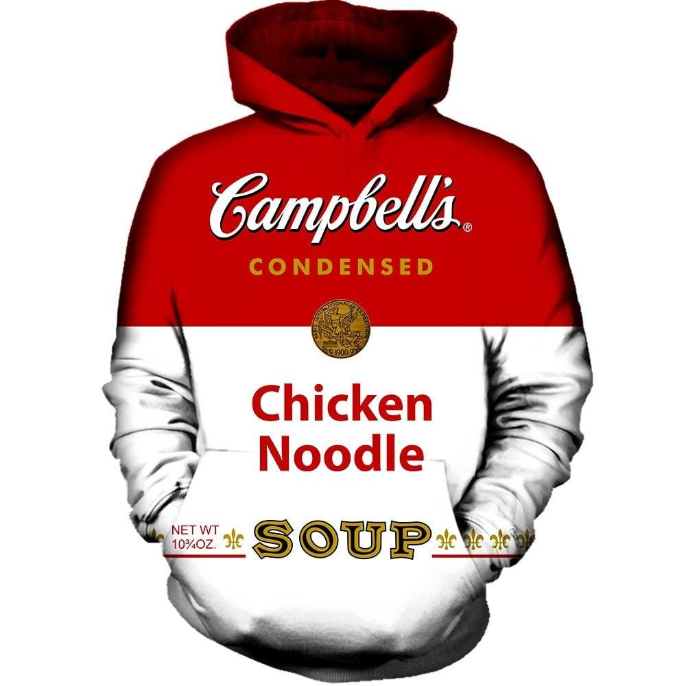 Our Campbell Soup Hoodie Will Make You Hungry This Rave Hoodie Replicates The Can We All Love To Cook Cambpell S Chicken No Campbell Soup Hoodies Rave Hoodie