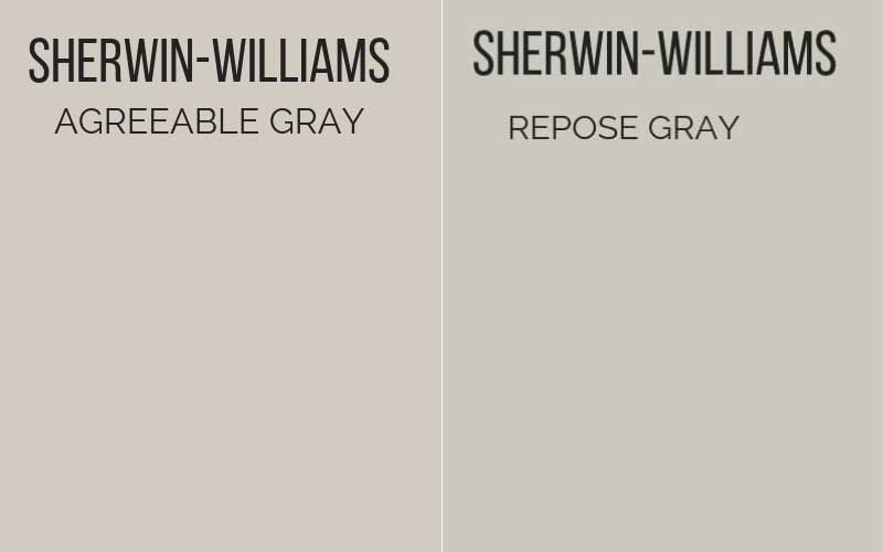 agreeable gray vs repose gray #sherwinwilliamsagreeablegray