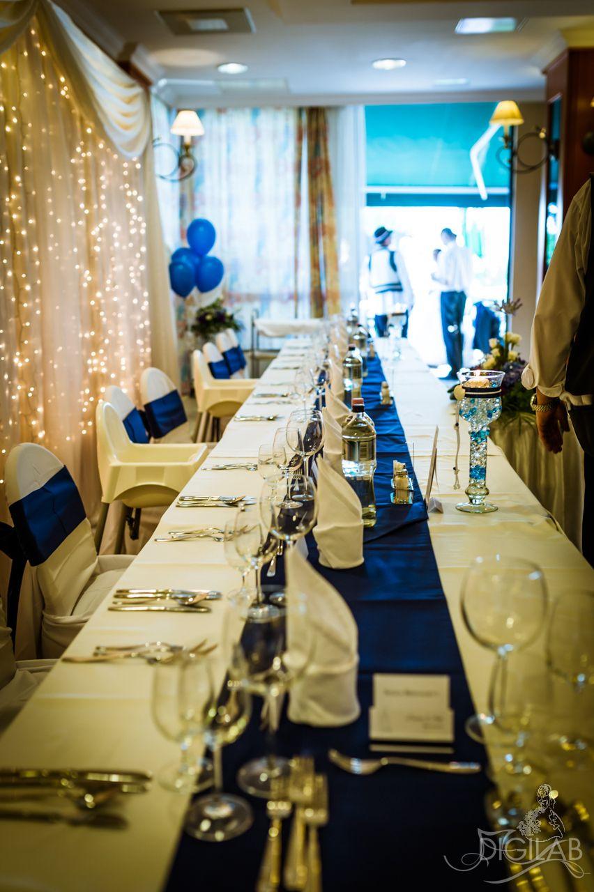 478dea13fa Asztal dekoráció, kék-fehér #eskuvo, #dekor, #kek | Esküvő