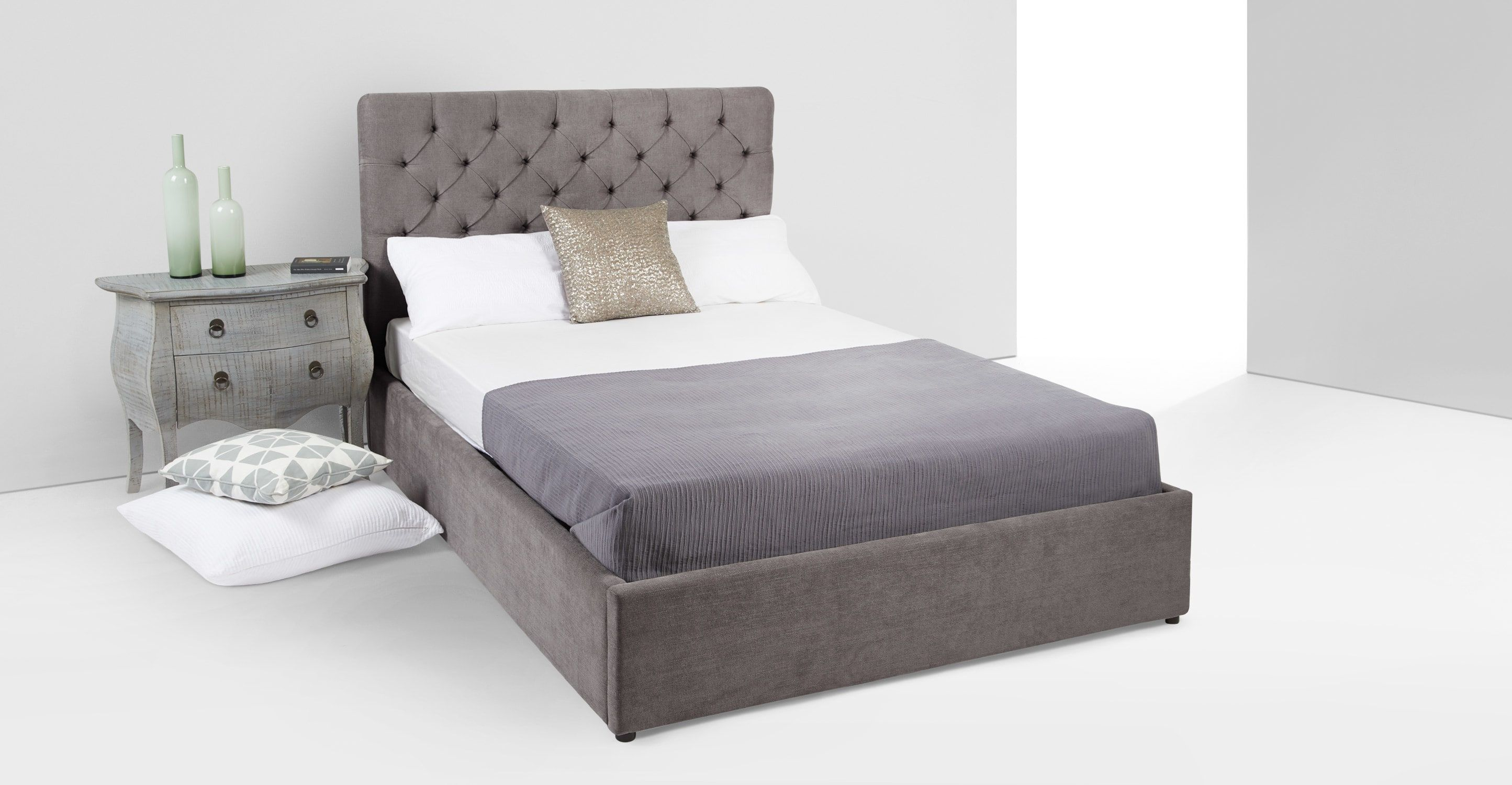 c19053314dbf Skye Kingsize Bed With Storage, Pewter from Made.com. Grey. Express  delivery. Every hard-working room deserves a bed that commands attention.  One th.