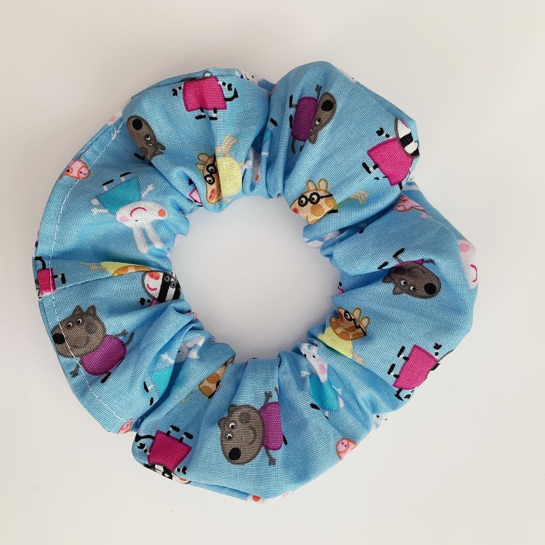 Peppa Pig Hair Scrunchie (Blue) #hairscrunchie