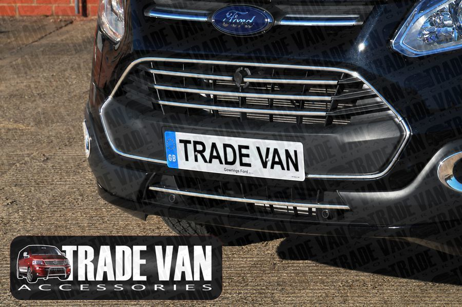Ford Transit Custom Front Radiator Grille Fin Covers 5 Part