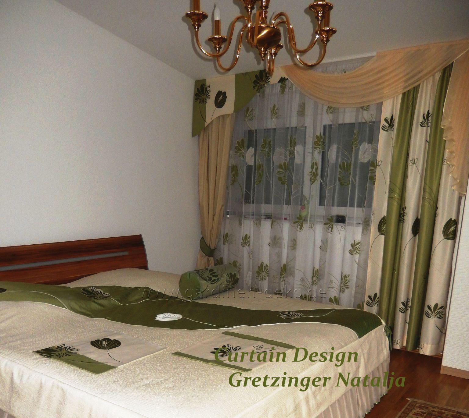 kunstvoller schlafzimmer vorhang im klassichen stil mit schabracke