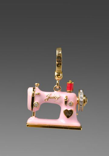 Juicy Couture Sewing Machine Charm In Gold What I Want Pinterest Custom Juicy Couture Sewing Machine Charm