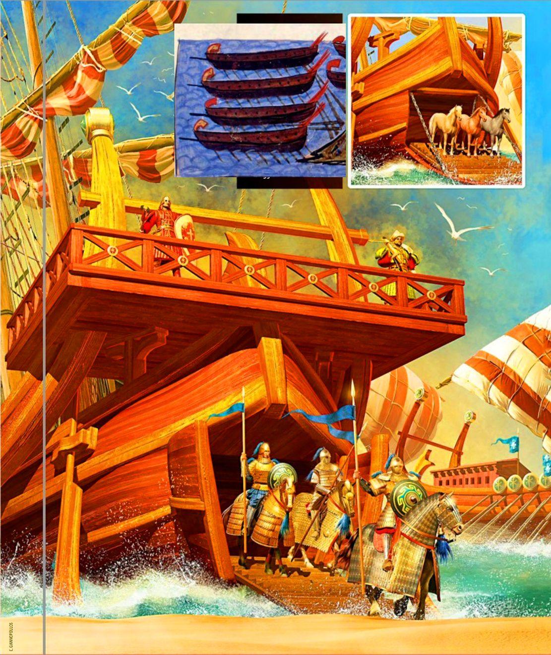 Byzantine Troops Landing In Crete