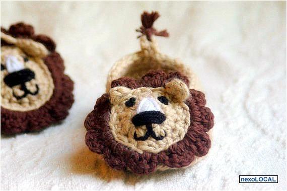 zapatillas/ Escarpines Para Bebes. Tejido A Crochet. Animales ...