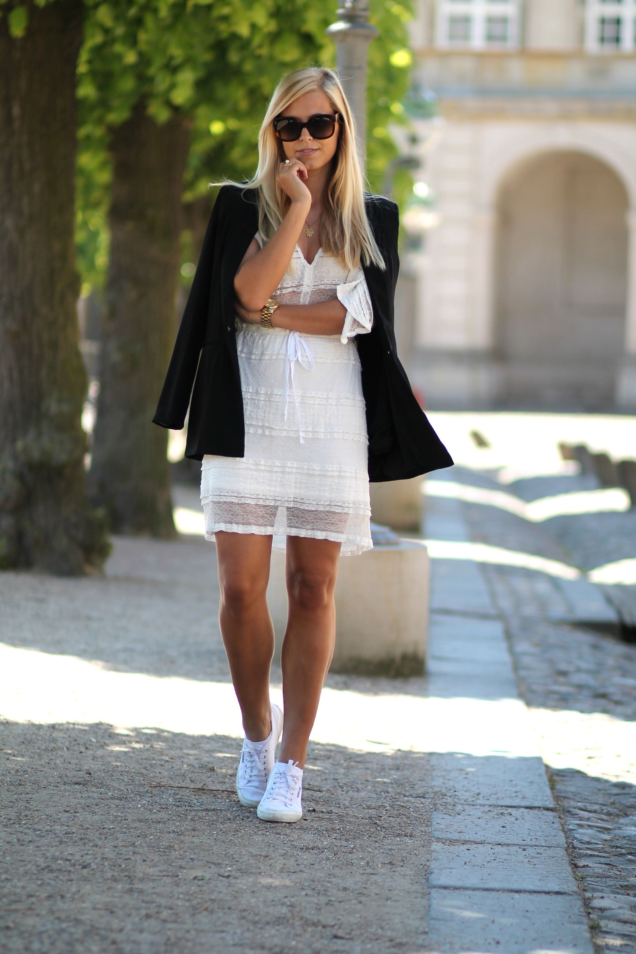 377a8ba53186 Danish Summer outfit. Wearing white dress from Ganni