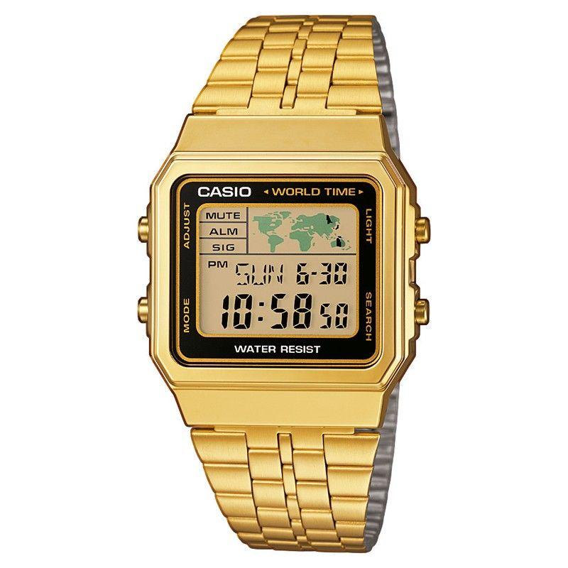 Casio Collection A500wega 1ef Casio Gold Retro Uhren Casio Uhr