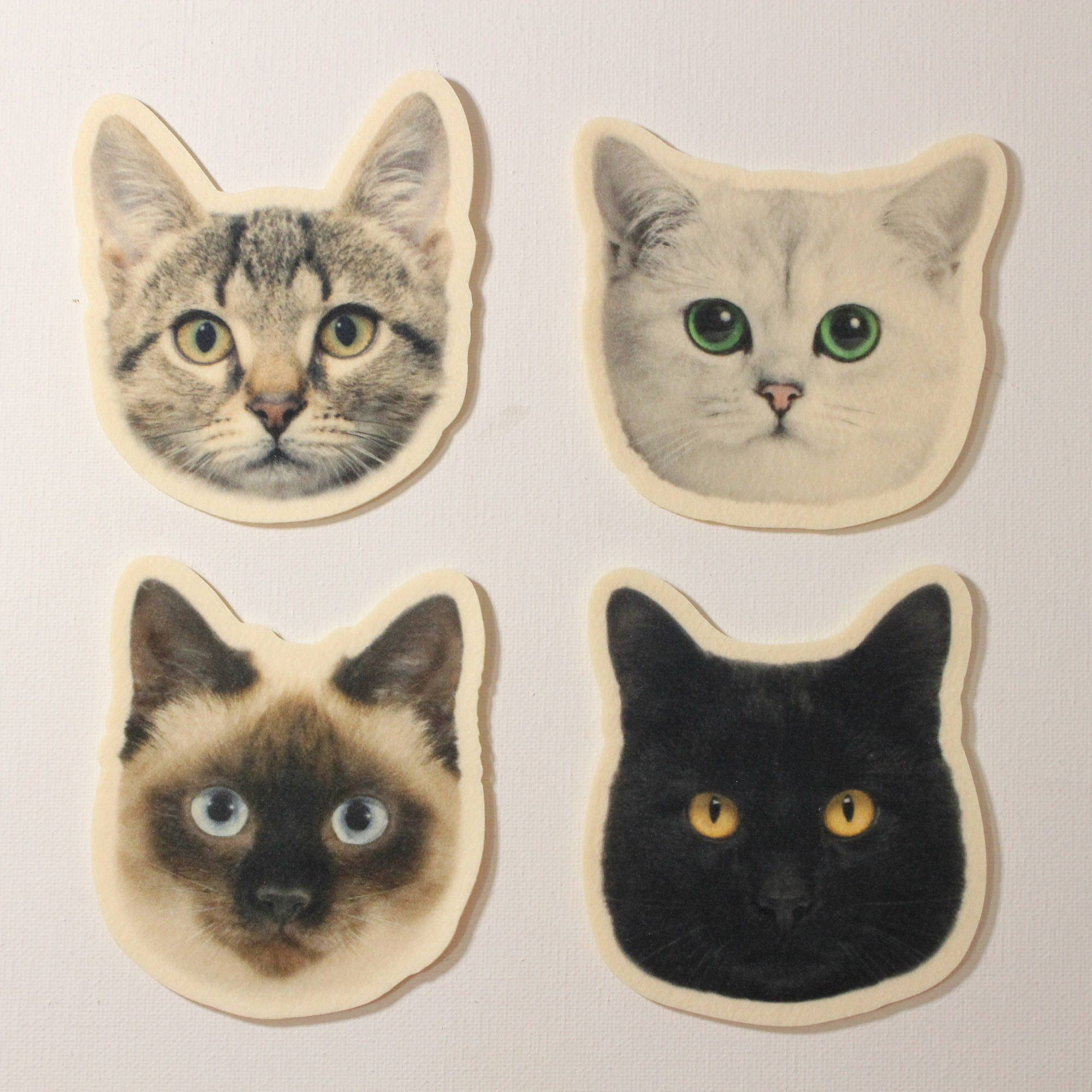 Kawaii Cat Face Drink Cup/Glass Coasters American Short