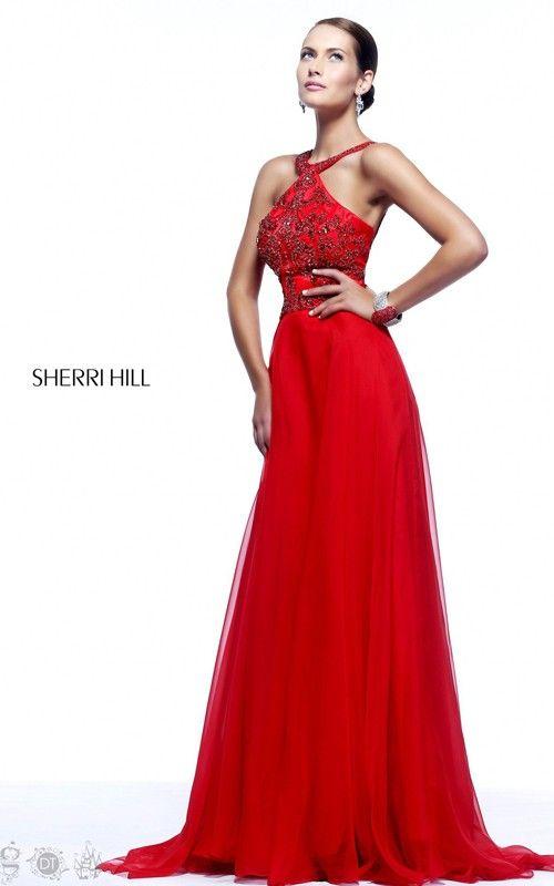 Beads Sherri Hill 21338 Red Prom Dress 2014 | DRESSES | Pinterest ...
