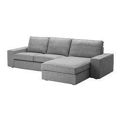 Recamiere modern grau  KIVIK 2er-Sofa und Récamiere, Isunda grau - Isunda grau - IKEA ...