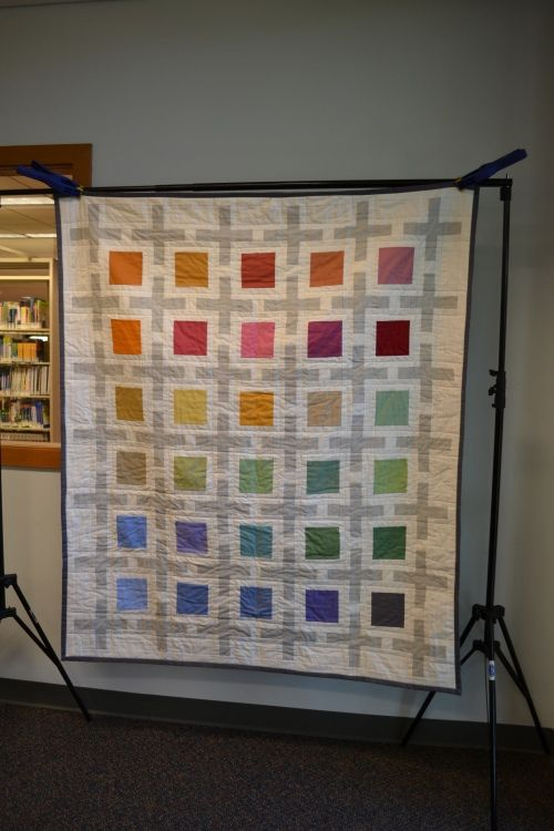 Love this quilt in Kona solids