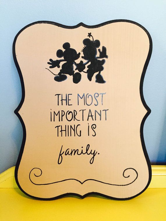 The Most Important Thing is Family - Disney Handmade Wood Sign ...