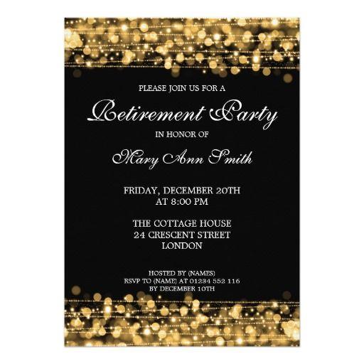 Elegant Retirement Party Gold Sparkles