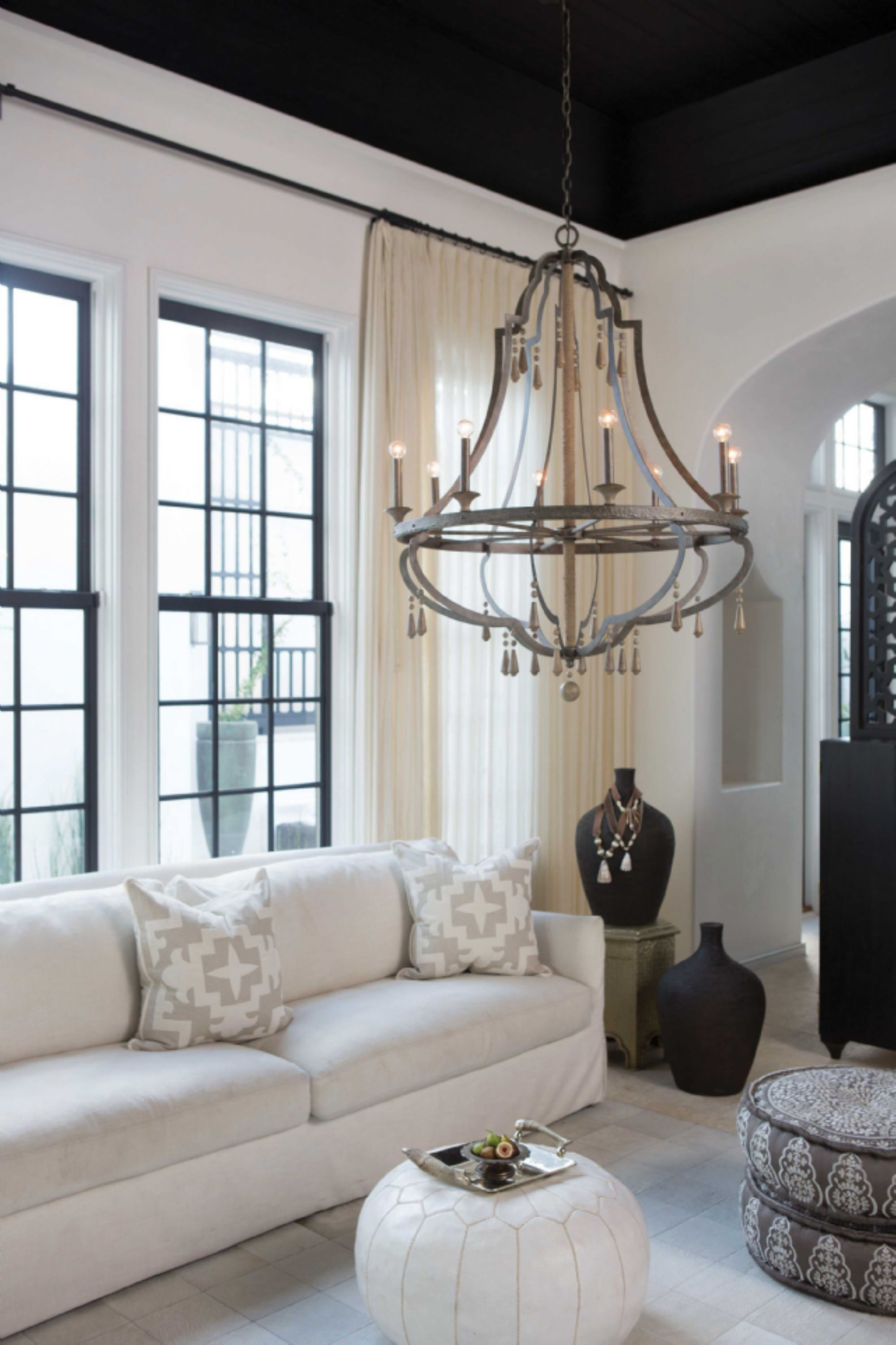 cordoba collection chandelier in vintage iron by fredrick ramond