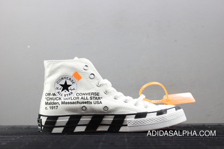 WomenMen New Release Off White X Converse Chuck 70 Stripe