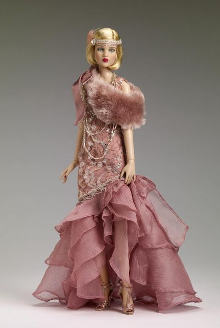 "Gatsby themed doll. Daisy, from the novel's main female protagonist. She has the Cami head sculpt and the 16"" Antoinette™ body with the Cameo skin tone. She has painted blue eyes and a summer blonde saran removable wig."