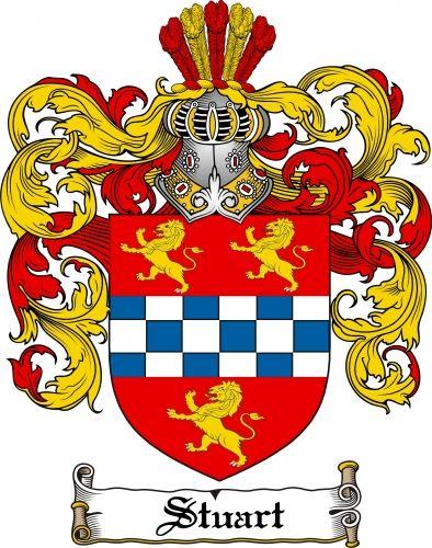 Royal Scottish Family Crest of James Hugh Stuart