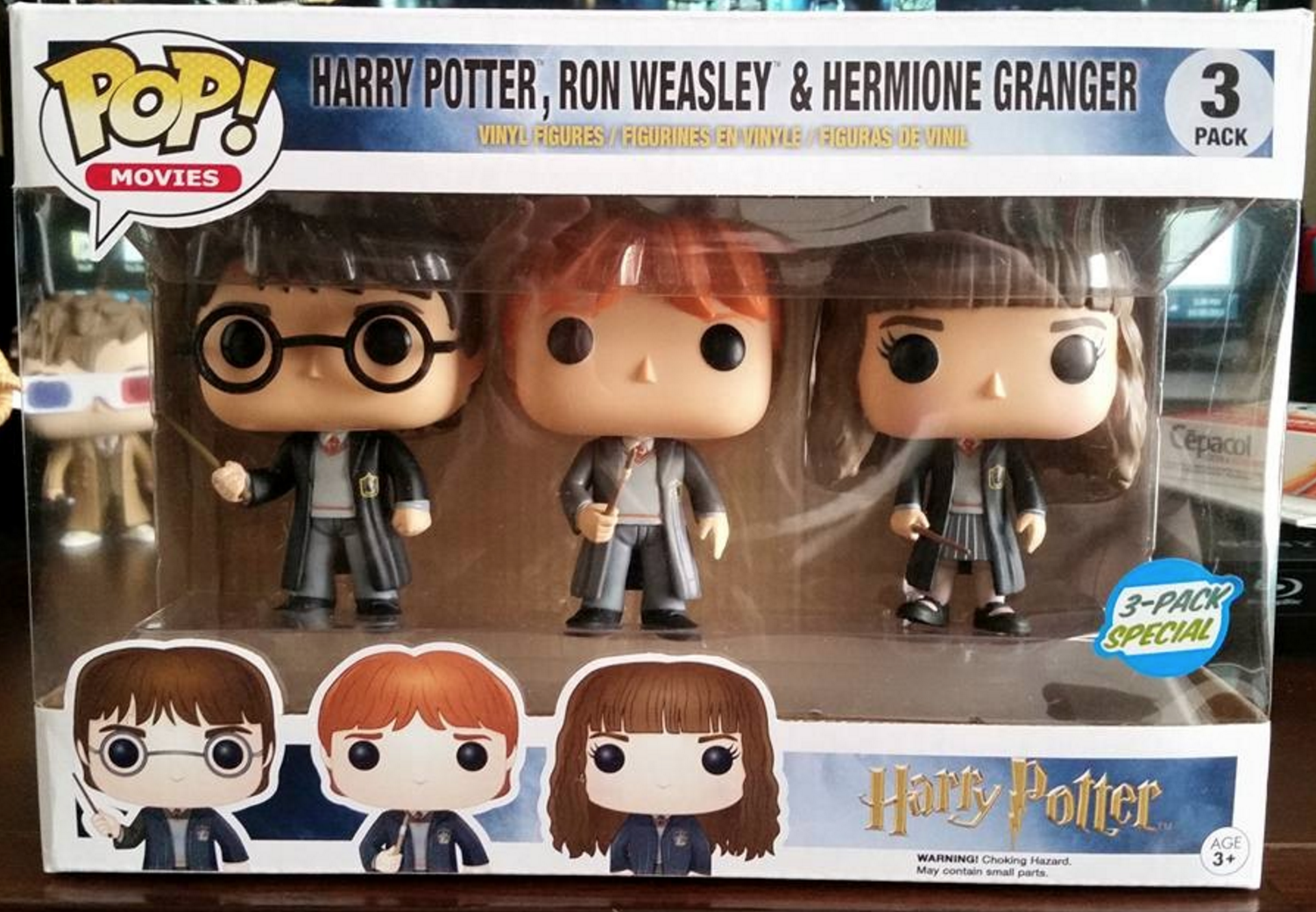 Harry Potter Hermiony Granger /& Ron Weasley Set of 3 Dolls New in Sealed Package