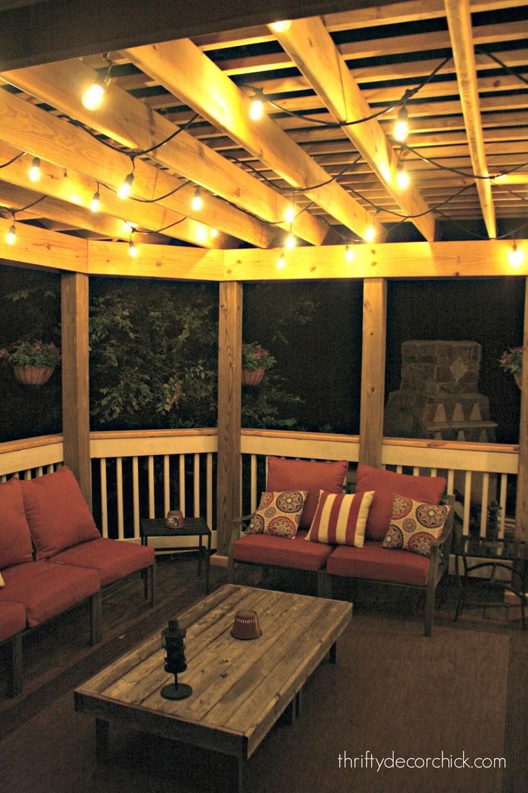 Vintage Edison Style String Lights Porch Patio