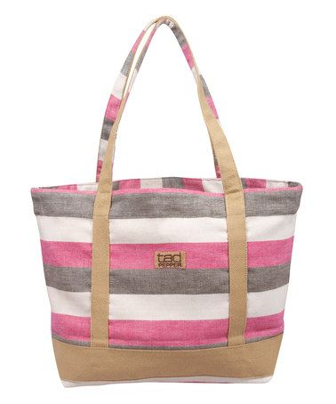 Look at this #zulilyfind! Pink Stripe Granville Market Bag by Tad Pepper #zulilyfinds