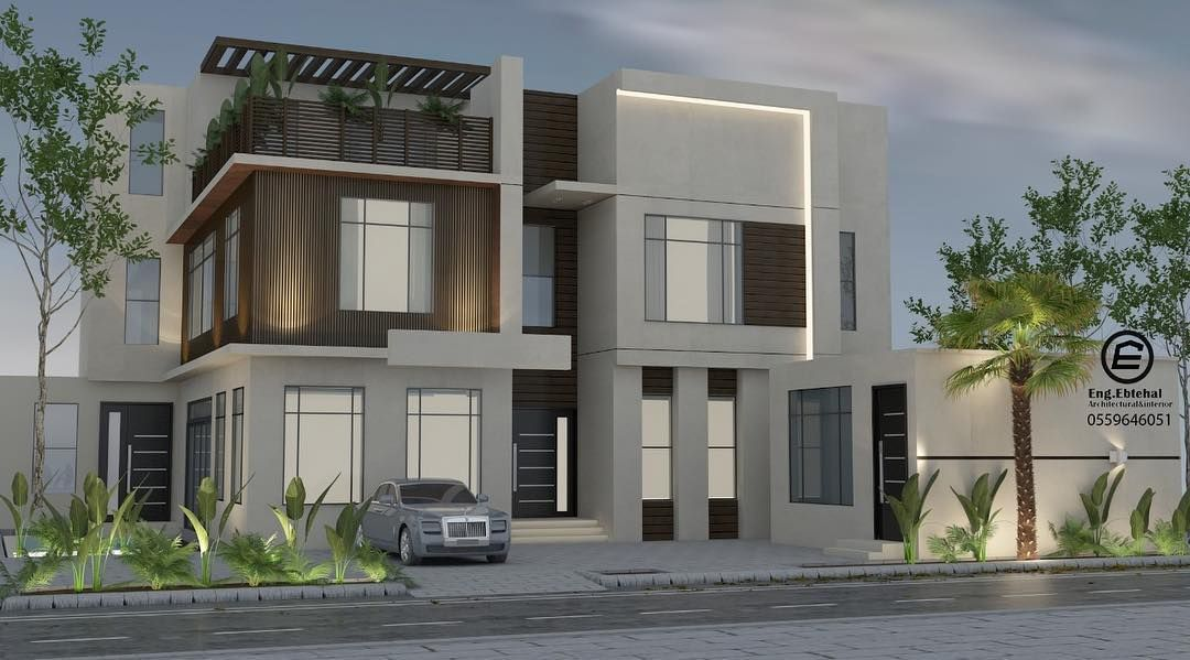 Pin By Betty King On واجهة منزل House Outside Design Modern House Facades Facade House