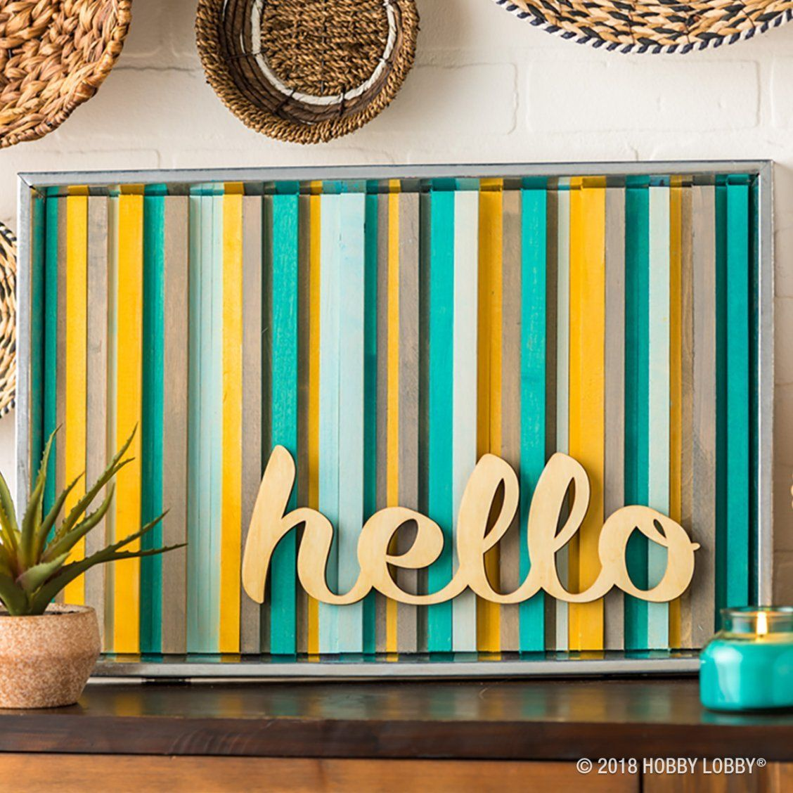 Say Hello To The Stunning Simplicity Of Gluing Square Dowels Into A Frame Diy Crafts Crafts Diy Wall Decor