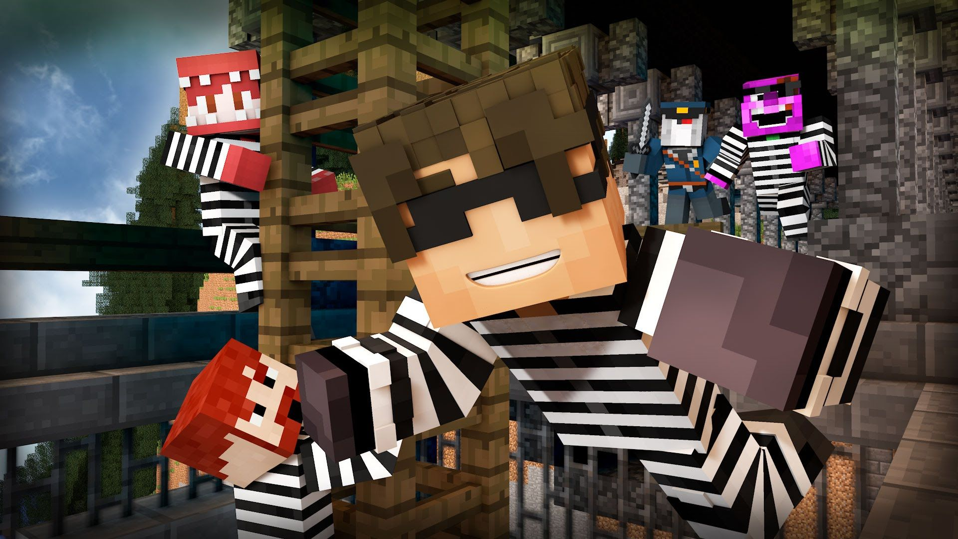 Minecraft Mini-Game: COPS N ROBBERS! (R.I.P. AL THE SLIME!) /w Facecam - YouTube