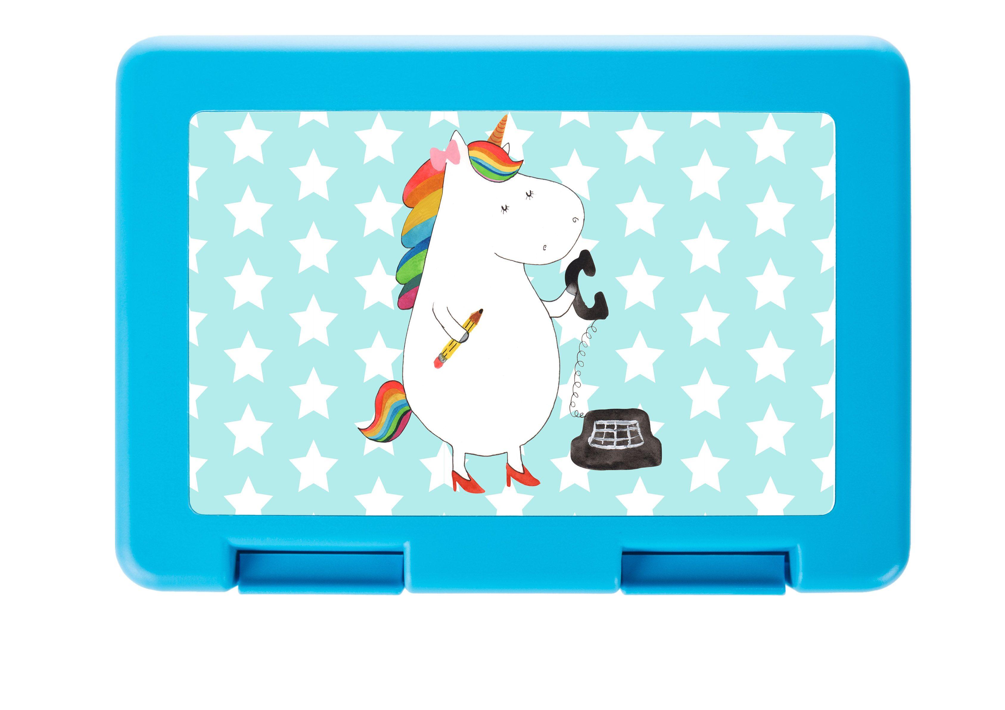 Brotdose Einhorn Sekretärin aus Premium Kunststoff  schwarz - Das Original von Mr. & Mrs. Panda.  Diese wunderschöne Brotdose von Mr. & Mrs. Panda ist wirklich etwas ganz Besonderes - sie ist stabil, sehr hochwertig und mit einer exklusiven und schimmernden bedruckten Aluminiumplatte  ausgestattet.    Über unser Motiv Einhorn Sekretärin  Ein Einhorn Edition ist eine ganz besonders liebevolle und einzigartige Kollektion von Mr. & Mrs. Panda. Wie immer bei unseren Produkten sind alle Motive…