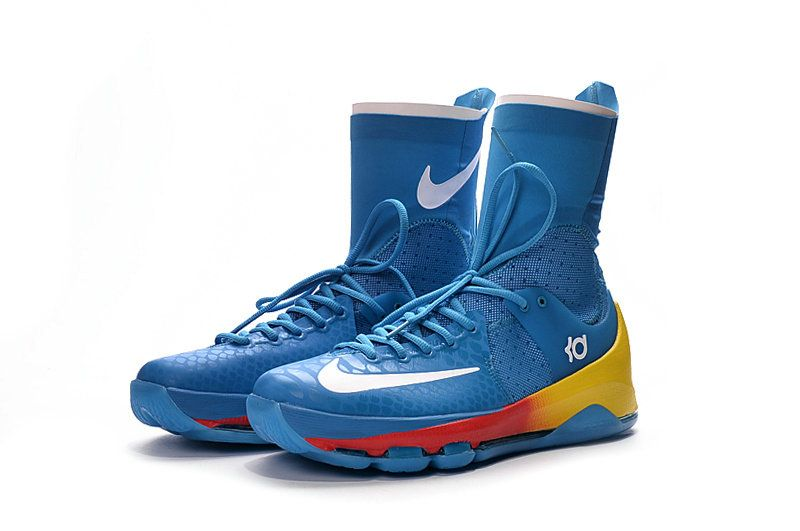 b48950f98470 KD 8 Sale VIII Elite OKC Away Photo Blue Laser Yellow Total Orange ...