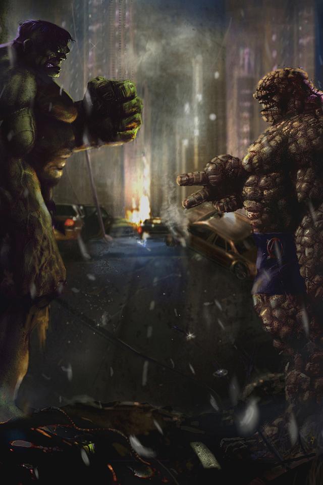 Hulk vs. Thing Hulk art, Hulk marvel, Iphone wallpaper