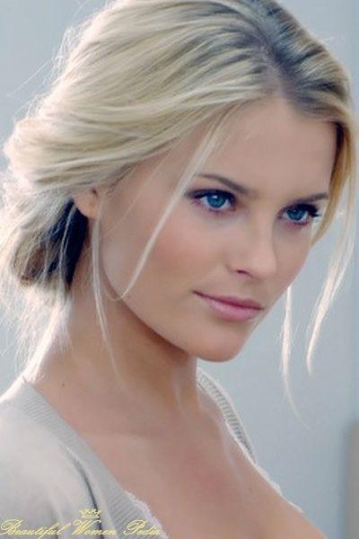 Most beautiful blonde woman very