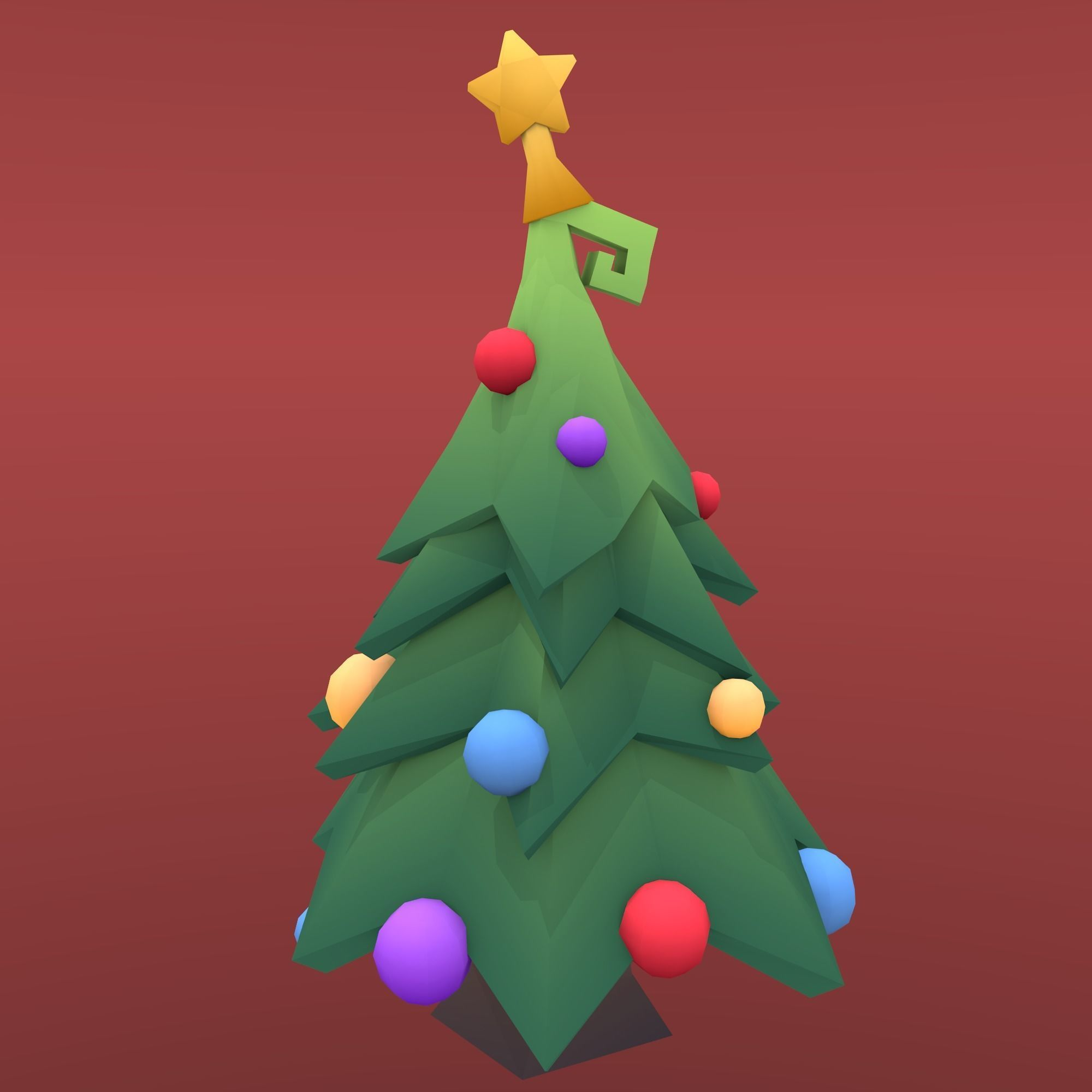 Low Poly Tree Christmas Tree 3d Model In 2020 Christmas Tree 3d Model Low Poly Models Low Poly