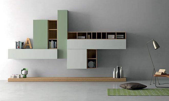 Meuble composable de séjour SLIM Modulares, Tv y Salón