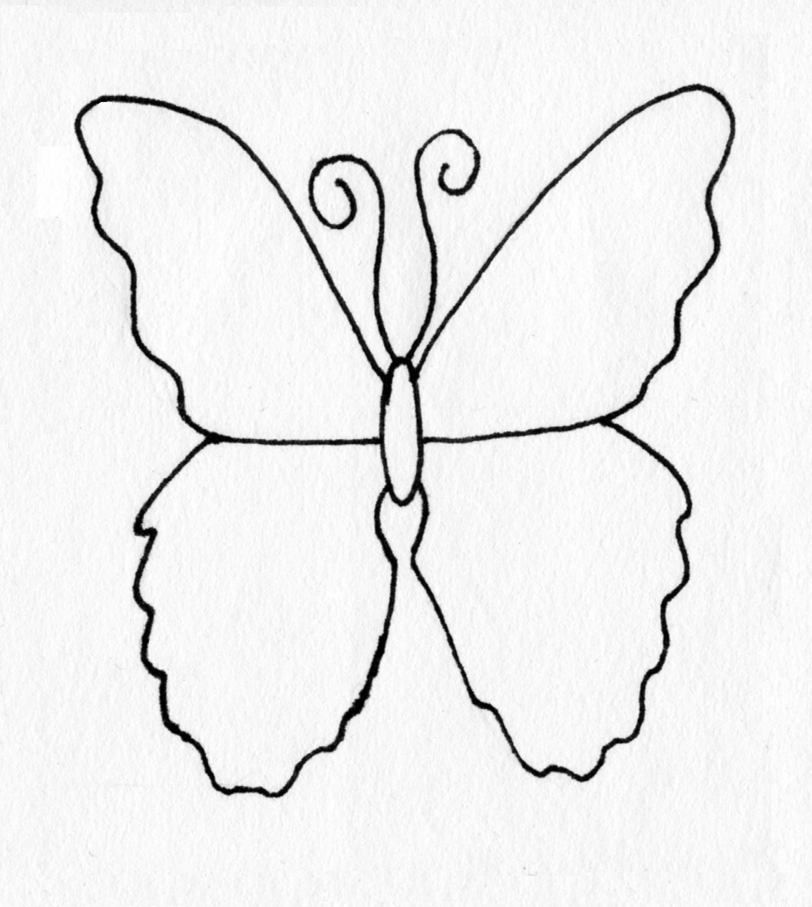 Coloring Page: Butterfly by BlackCatStitchCrafts on Etsy | Coloring ...