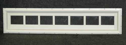 Northview 72 X 12 White Vinyl Fixed Utility Barn Transom Interior Windows White Vinyl Window Vinyl