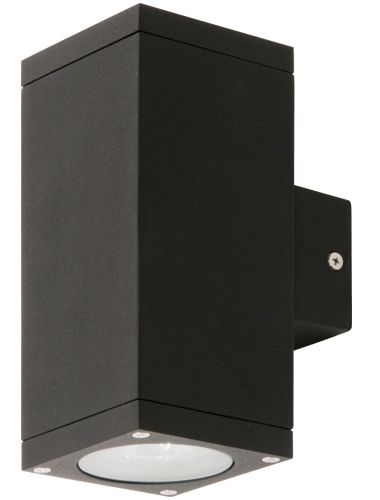 Kube gu10 updown exterior wall light black exterior lights kube gu10 updown exterior wall light black exterior lights tubular wall lights new zealands leading online lighting store aloadofball