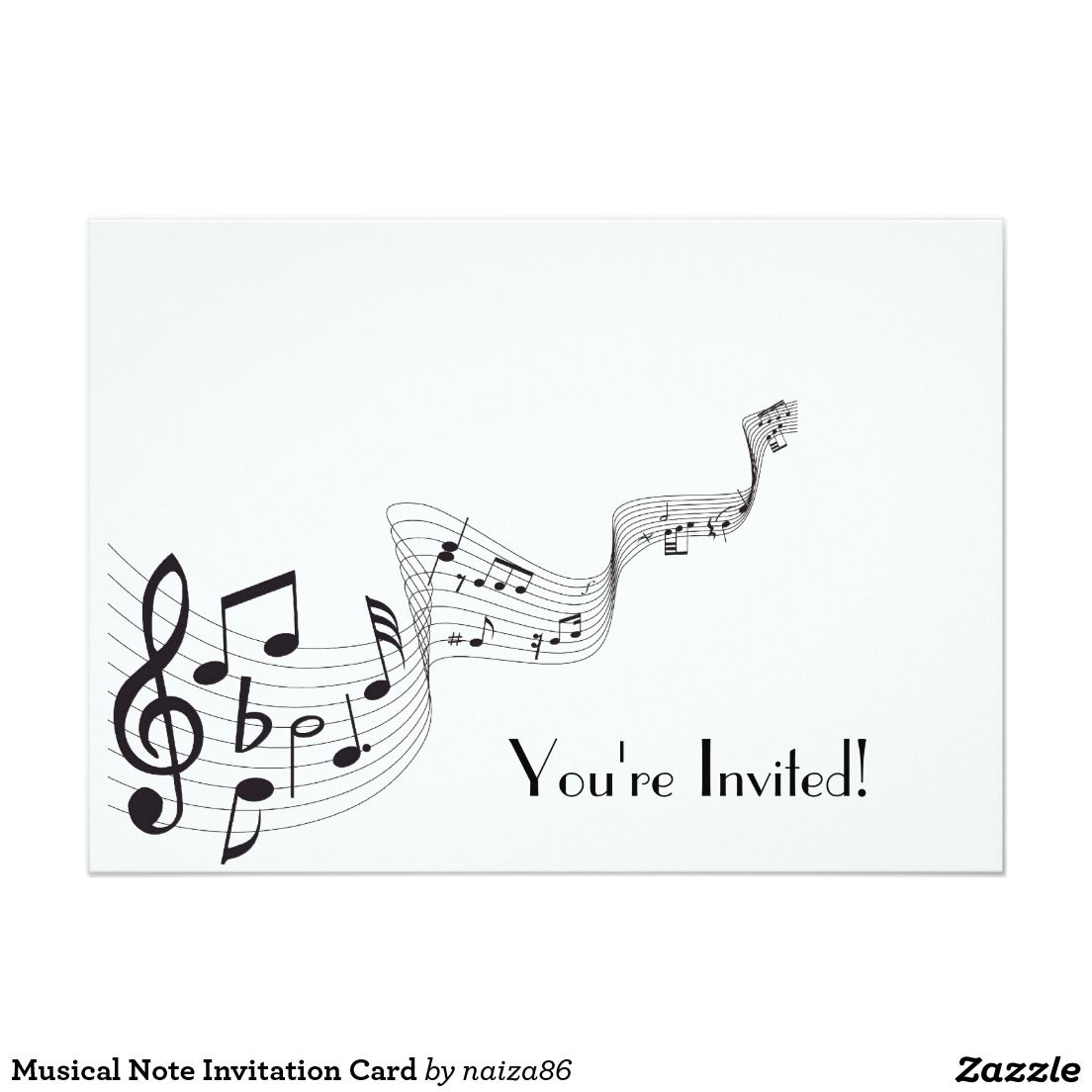 Musical Note Invitation Card Pinterest Computer Geek Circuit Board Green Magnetic Picture Frame Zazzle 5 X 7
