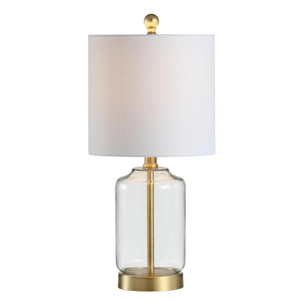 Jonathan Y Duncan 20 5 In Brass Clear Glass Metal Led Table Lamp In 2020 Led Table Lamp Lamp Table Lamp
