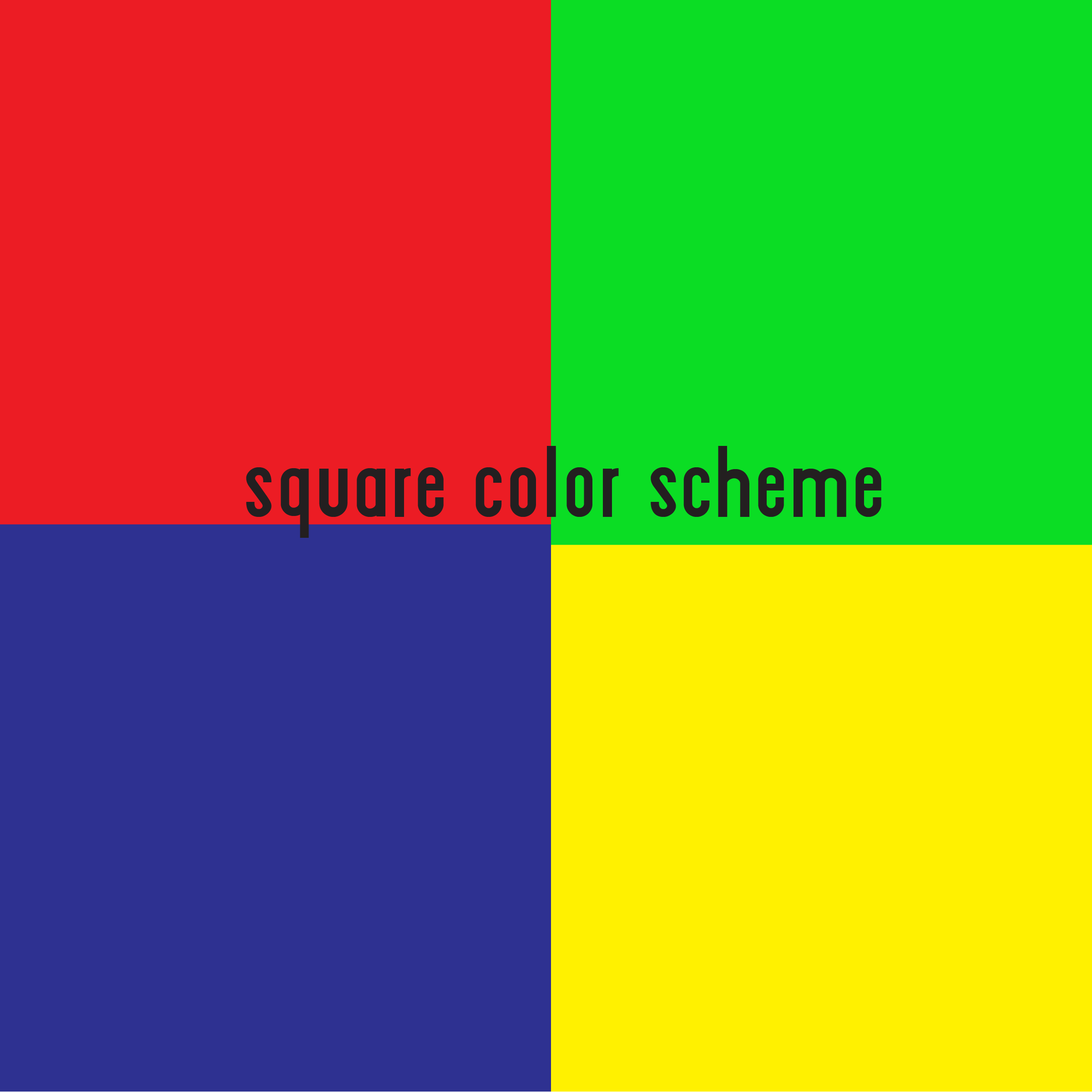 The Square Color Scheme Is Similar To The Rectangle But