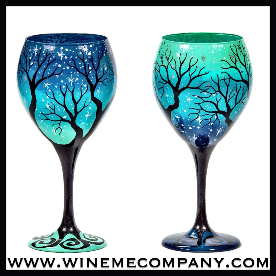 hand painted wine glasses email winemecompanygmailcom for all custom requests