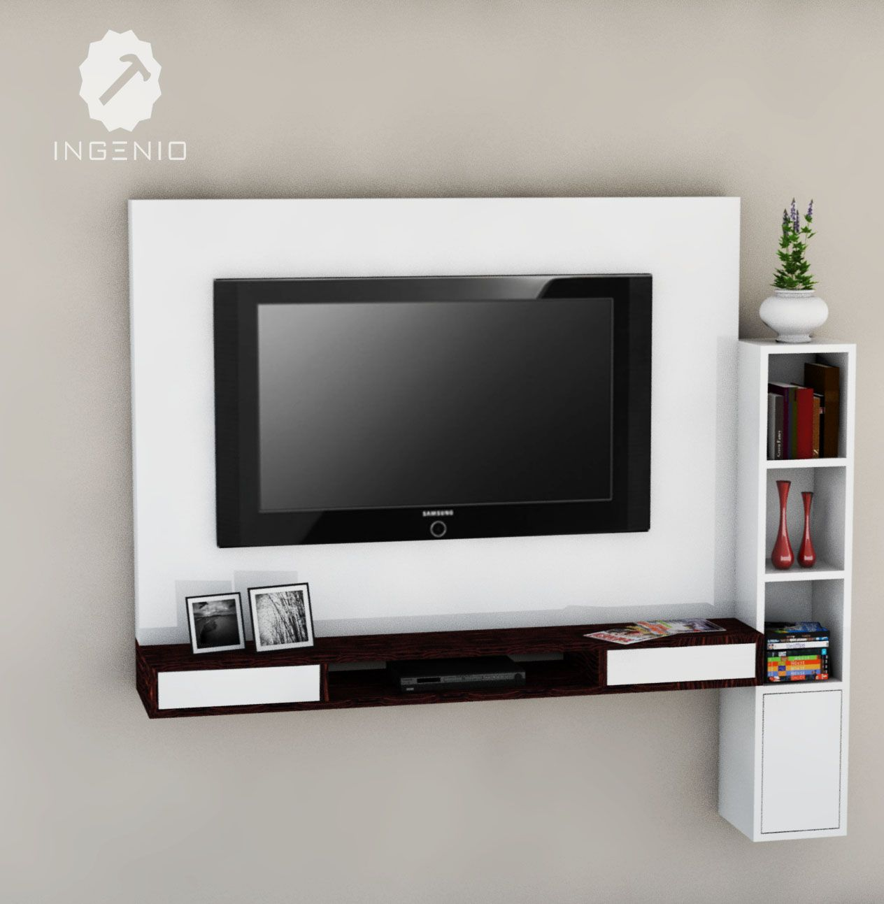 Muebles Para Tv Mueble Para Equipo Tv Tv Feature Wall In 2019 Shelves