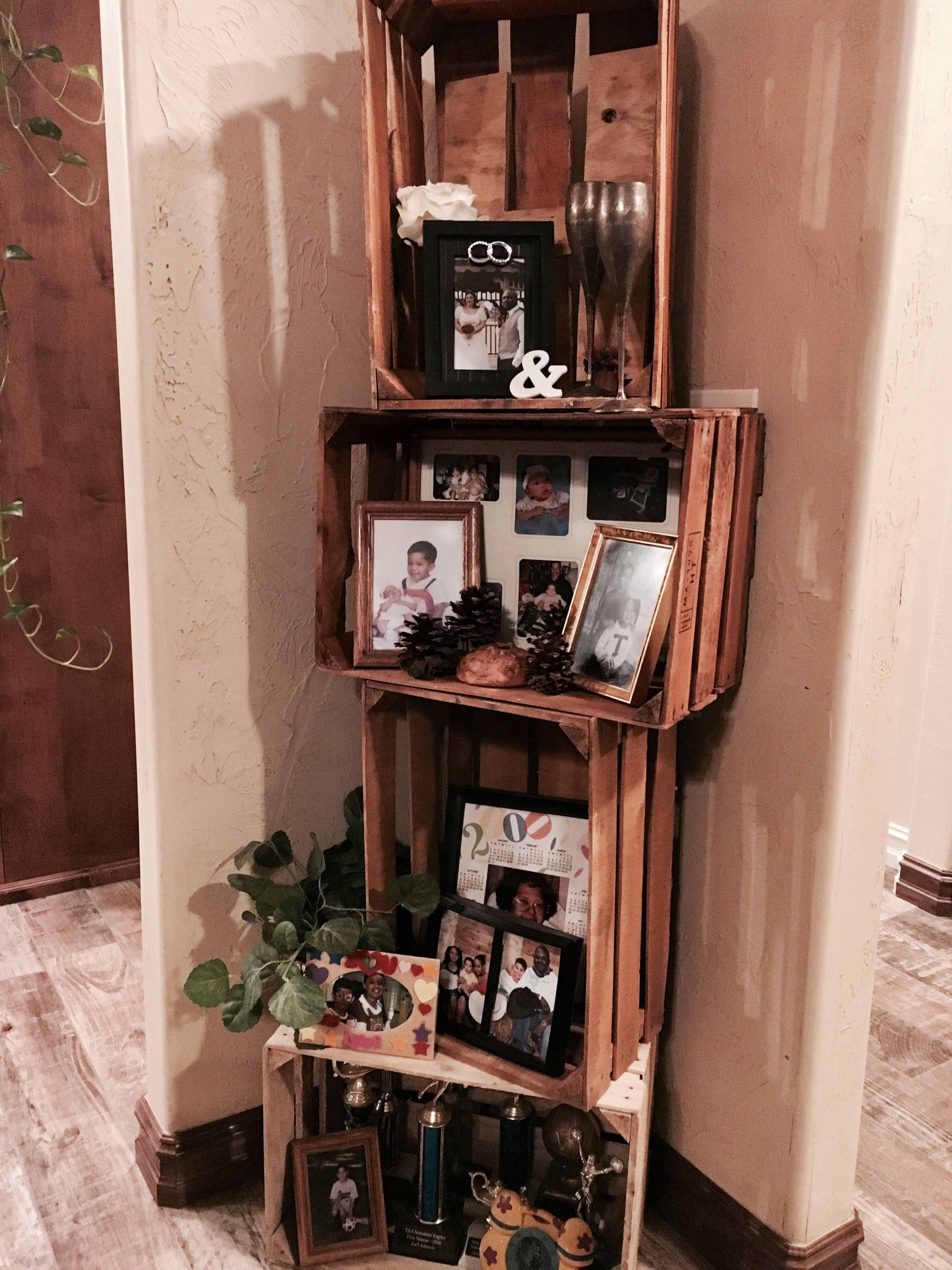 Rustic Crate Corner Shelf Simple Project Put Together With Twist Ties Very Sy