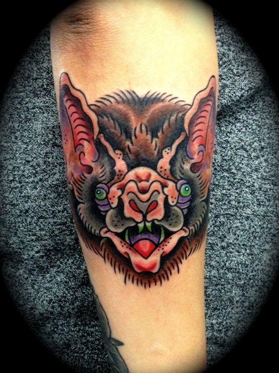 Bat Tattoo On Arm For Boys Bat Tats Tattoos Tattoo Designs
