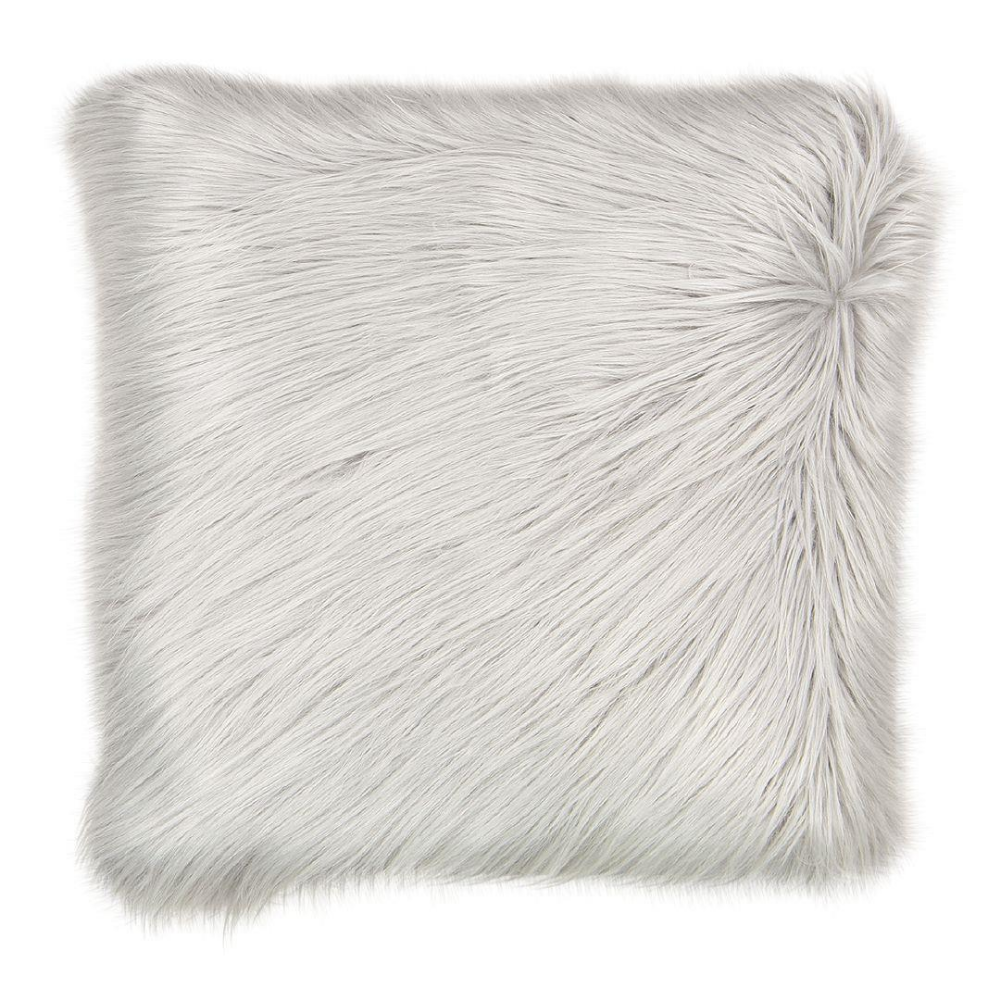 Living Co Cushion Faux Fur Mongolian Long Pile 45cm X 45cm The