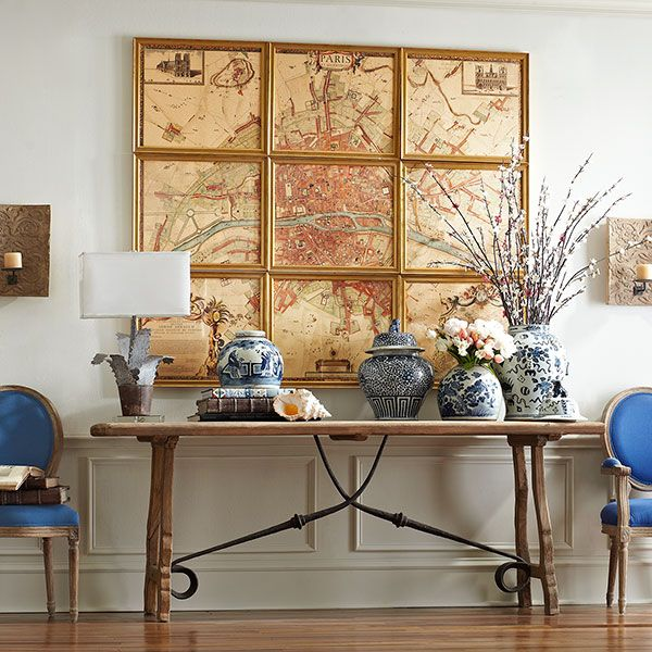 95 Home Entry Hall Ideas For A First Impressive Impression: Rustic Trestle Console Table