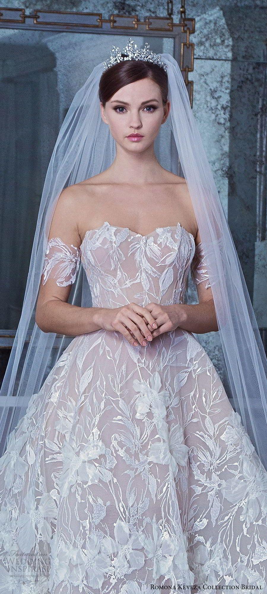 b52a38adc088b romona keveza fall 2019 bridal off shoulder sweertheart fully embellished  ball gown wedding dress (10) romantic princess elegant chapel train zv --  Romona ...
