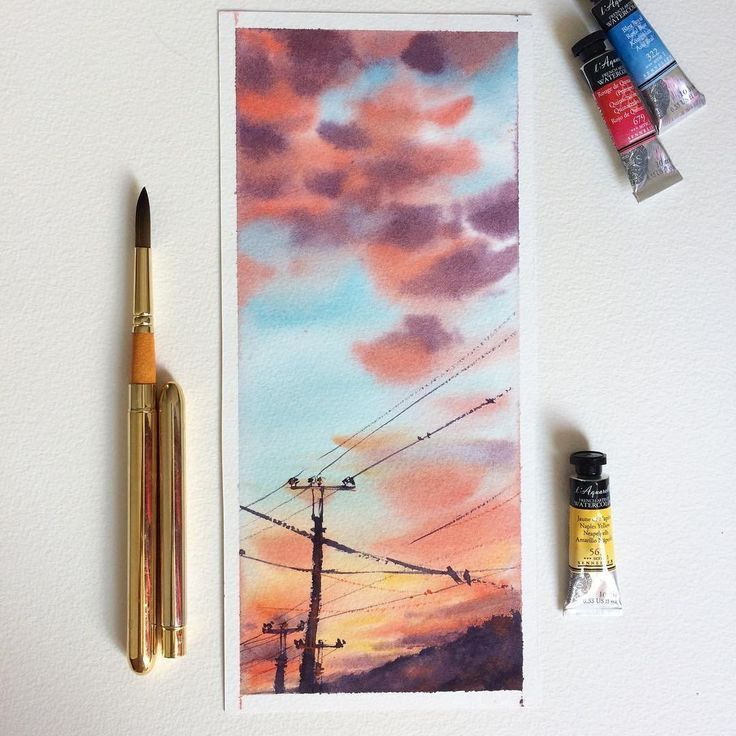 Все грани акварели  on Instagram:  Watercolorist: @mamabelle_art  #waterblog #акварель #aquarelle #drawing #art #artist #artwork #painting #illustration #watercolor