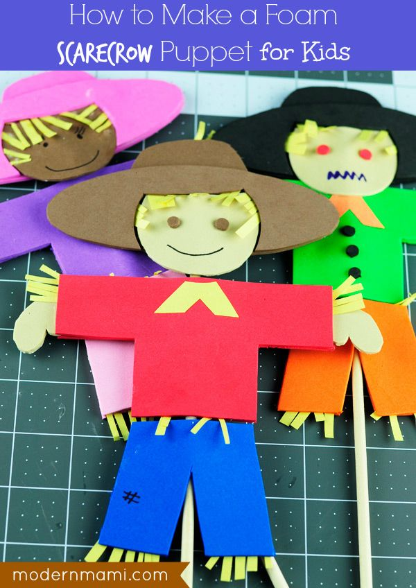 foam craft ideas for adults fall for foam scarecrow puppet craft free 6584