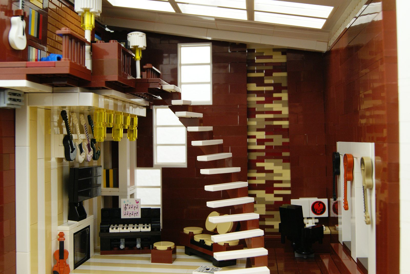 Bon A Nicely Detailed Modern House Interior. #LEGO Model By Zaberca.